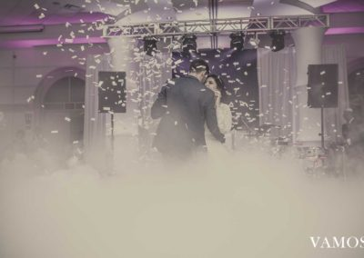 Wedding Dry Ice and Confetti