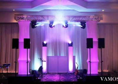 Stage with Moving Heads & Uplighting