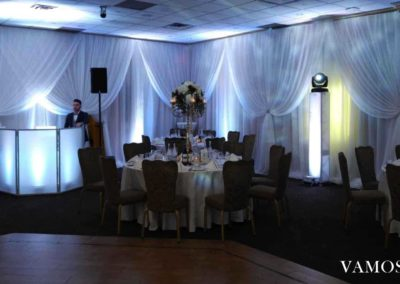 Room Draping and LED Decor