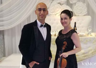 MC and Violin Player