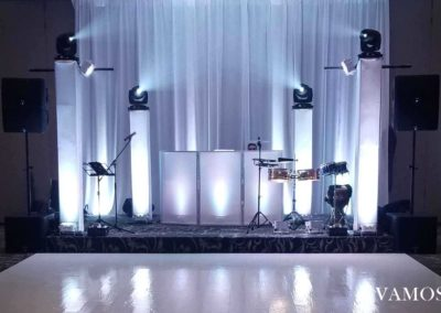 Stage with White Lights